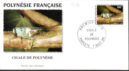 Polynésie 0516 Fdc Cigale - Ohne Zuordnung