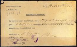 CROATIA - GERMANY REICH Ocupation ISTRIA  - AUSWEIS - 15. 4. 1945 - Kroatien