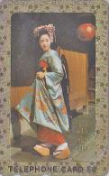 RARE t�l�carte dor�e Japon - GEISHA - Femme Tradition - Japan GOLD phonecard Telefonkarte girl - Frau TK 2145
