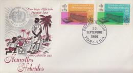 Enveloppe FDC  1er Jour   NOUVELLES  HEBRIDES   Organistion  Mondiale  De  La  Santé   1966 - FDC