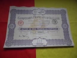 COMPTOIRS FRANCAIS D'OCEANIE  (1920) - Shareholdings