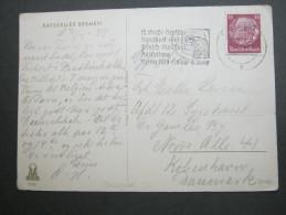1939 , Dresden   Propagandastempel   Auf  Karte - Deutschland