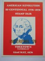 USA 1976 POSTCARD BI-CENTENNIAL YORKTOWN CAMBERLEY STAMP FAIR WITH INTERPHIL `76 OVERPRINT - United States