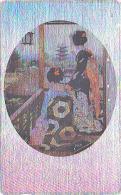 T�l�carte ARGENT Japon  - GEISHA - Femme Tradition - Japan SILVER phonecard girl - Frau Telefonkarte - 2149
