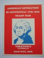 USA 1976 POSTCARD BI-CENTENNIAL YORKTOWN CAMBERLEY STAMP FAIR - United States