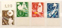 Deutschland 1953 Michel 167, 168, 169, 170 Alle **, Deutsche Verkehrsausstellung München, Alle Mit Rand, Bahn, Luftpost - BRD