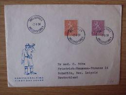 FINNLAND, 02.08.1954, BELEG Mit STEMPEL Von HELSINKI 1 - Cartas