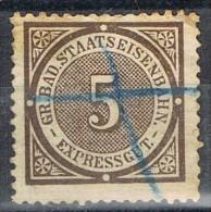 Sello Expressgut BADEN 5 Pf, Staatseisenbahn, Colis Posteux, Paquete Postal º - Baden