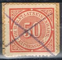 Sello Expressgut BADEN 50 Pf, Staatseisenbahn, Colis Posteux, Paquete Postal º - Baden