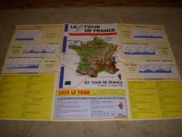 CYCLISME Guide Tour De France 1995 MIROIR INDURAIN CARTE PROFILS PARTANTS - Sport