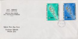 Enveloppe FDC  1er Jour   NOUVELLES  HEBRIDES   Carte  Des  Iles   1979 - FDC