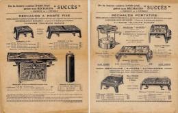 """1928 Pub  De La Bonne Cuisine Sans Gaz Grâce Aux Réchauds """" SUCCES"""" à Essence Ou à Pétrole . Pubs Recto-verso - Electricity & Gas"""