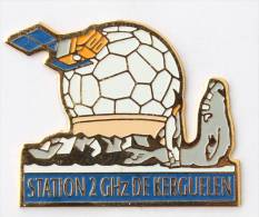 Pin's  STATION 2 GHZ DE KERGUELEN - Satellite - Géode - Manchot - Eléphant De Mer - F103 - France Telecom