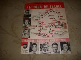 CYCLISME PG OFFICIEL TOUR De FRANCE 1959 PALMARES 58 PARCOURS DETAILLE 36 Pages - Sport