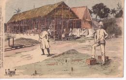MADAGASCAR - Magasin Des Douanes à Vatomandry - Illustration CHAMONIN - Carte Postale Du Douanier - Madagascar