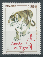 FRANCE, Chinese New Year, Year Of The Tiger, 0,80€, 2016, MNH VF - Neufs
