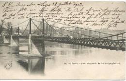 Tours Pont Suspendu De Saint Symphorien 1903. - Tours