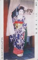 T�l�carte Japon / TCP 110-001 - GEISHA - Femme Tradition - Japan phonecard girl - Frau Telefonkarte - 2170