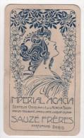 Carte Parfumée Début XXème Impérial Acacia Sauzé Frères Parfum D'Albret Femme Style Mucha Art Nouveau - Cartes Parfumées