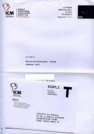 Santé,medecine,cerveau,moelle épinière,timbre ICM Fondation Destineo MD7,enveloppe Reponse T - Medicina