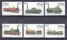 Treinen, Train, Eisenbahn, Railway: Maldives 1999 Mi Nr 3277 - 3282 - Treinen