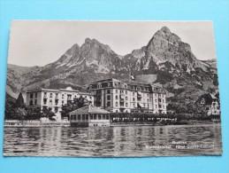 Hôtel Quatre-Cantons WALDSTÄTTERHOF Brünnen ( 4364 ) Anno 1949 ( Zie Foto Voor Details ) ! - LU Lucerne