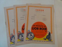 Petit Lot De 3 Cahiers NeufsLes Produits Du Lion Noir - Produits Ménagers