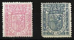 1896-1898 Escudo De España Edifil 230/31 Valor Catalogo 45,50€ - Nuevos