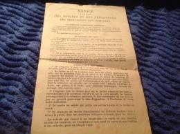 Notice à Usage Des Assurés Employeur Des Professions Agricole - Fatture & Documenti Commerciali