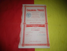 COLONIAL TRUST (1929) - Shareholdings