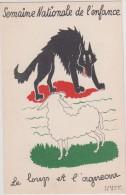 Illustrateur - F. Lesourt Le But - Le Loup Et L'agneau - Semaine Nationale De L´enfance (Fable Jean De La Fontaine) - Autres Illustrateurs