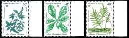 POLYNESIE 1986 - Yv. 268 269 270 ** SUP Bdf  Faciale= 1,18 EUR - Plantes Médicinales (3 Val.) ..Réf.POL22432 - Französisch-Polynesien
