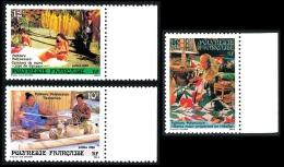 POLYNESIE 1986 - Yv. 263 264 265 ** TB Bdf  Cote= 1,70 EUR - Folklore (3 Val.) ..Réf.POL22389 - Französisch-Polynesien