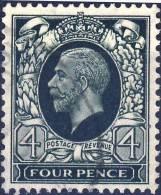 193 GEORGE V  4P Vert Foncé OBLITERE ANNEE 1924 - 1902-1951 (Rois)