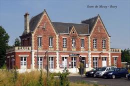 Gare De Mouy - Bury , Oise - Une Photo Reproduit Carte Postale  10x15 Cm. - Estaciones Sin Trenes