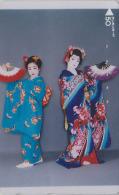 T�l�carte Japon - GEISHA / Eventail - Femme Tradition - Japan phonecard girl & Fan - Frau Telefonkarte / Abanico - 2178