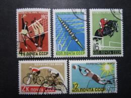 Russie. 1962. Yvert N° 2529 à 2533 Oblit. Sport. Championnat Du Monde à Moscou, Italie Et Suisse. Sports Divers. - 1923-1991 UdSSR