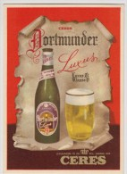 Publicité - Bière - Ceres Dortmunder Luxus - Partition De Musique Au Dos (Brasserie, Dortmund) - Advertising