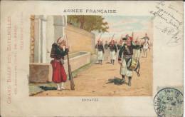 C P Pub Grand Bazar Des Batignolles -  Armée Française Zouaves  1905. - Uniformes