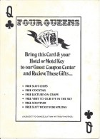 Large Four Queens Casino LV Guest Coupon Card (125 X 175 Mm) - Reclame