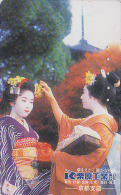 T�l�carte Japon - GEISHA - Femme Tradition - Japan phonecard girl - Frau Telefonkarte - 2181