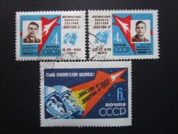 Russie. 1962. Yvert N° 2550 à 2552 Oblit. Espace. 1° Vol Spacial Groupé Nikolaïev Et Popovitch. - 1923-1991 UdSSR