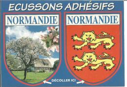 Blason Armoiries  Normandie  Héraldique Ecusson Adhésif - Stickers
