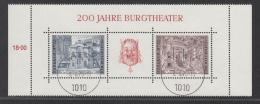 AUSTRIA USED MICHEL BL 3 THEATER - Blocks & Kleinbögen