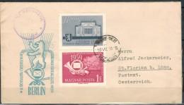 UNGARN 1959 - Beleg Mit 1592+Zierfeld - Brieven En Documenten