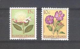 Ruanda-Urundi 1953-2 Sellos Nuevos**- Flora Dissotis Y Protea - Ruanda