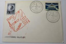 EXPOSITION PHILATELIQUE TARBES 1964 + Timbre Russe Oblitéré France Moscou 1957-1964 - Marcophilie (Lettres)