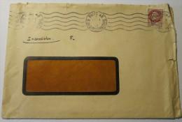 1f50 Pétain Type Bersier Seul Sur Lettre 1943 Avec Perforations - Marcophilie (Lettres)