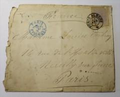 BRESIL Enveloppe Affranchie 1891 Porto Alegre à Paris - Brésil