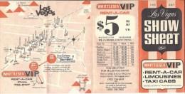 Whittlesea VIP Transportation - 1972 Las Vegas Show Sheet  (140 X 290 Mm) - Tourism Brochures